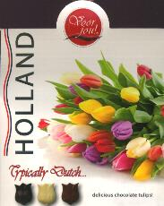 Voor Jou! -- For You Dutch Chocolate Tulips in Tulip Box 100g