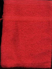 Washandje Rood -- Wash cloth mit Red