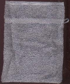 Washandje -- Wash cloth mit Light Grey