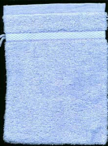 Washandje Licht Blauw -- Wash cloth mit Light Blue