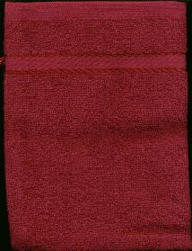 Washandje Bordeux -- Wash cloth mit Maroon