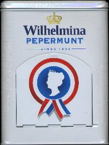 Wilhelmina Pepermunt -- Peppermints in Fancy Tin -- 1840g