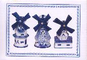 Set of 3 Windmills -- Gift Boxed 9cm