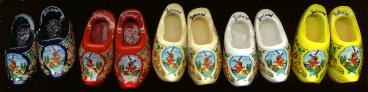 Wooden Shoe Magnet --priced per pair -- We select the color.