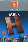 De Heer Milk Chocolate Letter Small  H 65g