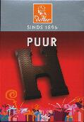 De Heer Dark Chocolate Letter Small  H 65g