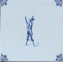 Westraven Tile 5 inch with Delft Blue Children Playing D