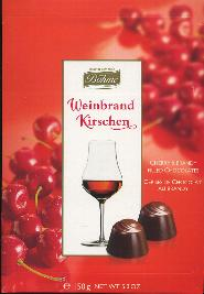Böhme Weinbrand Kirschen Cherry and Brandy filled Chocolates