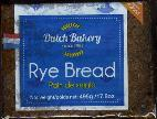 Dutch Bakery Roggebrood -- Rye Bread -- 496g