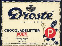 Large P -- Droste DARK Chocolate Letter Large P -- 135g