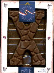 Large X -- MILK Chocolate Letter Large  X -- 135g