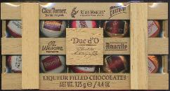Duc d'O Liqueur Filled Chocolates in Wooden Box 125g