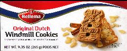 Hellema Original Dutch Windmill Cookies with Almonds -- 265g