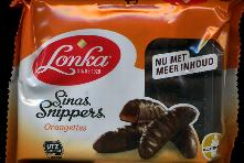 Lonka Sinas Snippers -- Orange Jellies Covered in Chocolate