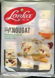 Lonka Soft Nougat with Peanuts and Fruit 210g