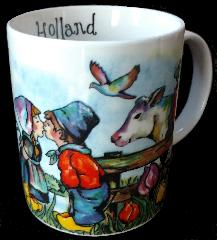 Mug -- Whimsical Mug with Kissing Couple