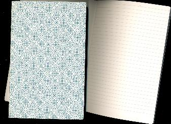 "Dutch Ornamental LINED Notebook 8.25""x5.25""  48 pages"