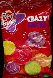 Red Band Crazy Faces -- Winegums with Fruit Flavor -- 235g