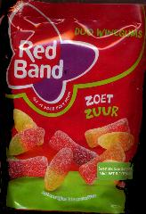 Red Band Zoet Zuur Duo Winegums -- Sweet Sour Winegums 215g