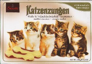 Sarotti Katzenzungen -- MARBLED Chocolate Cat Tongues 100g