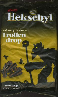 Toms Heksehyl -- Trollen Drop -- 1Kilo (Licorice)