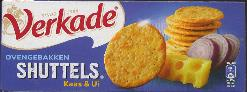 Verkade Shuttels -- Cheese and Onion Crackers -- 150g