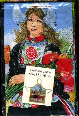 Dutch Girl in Tulip Field -- Cooking Apron 85x70cm