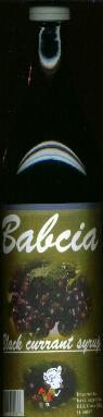 Babcia Black Currant Syrup -- Juice concentrate 1 liter
