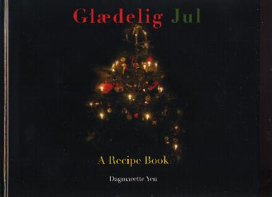 Glædelig Jul Hardcover Danish Christmas Cookbook 52 pages
