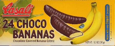 Casali Choco Bananas Chocolotate Covered Banana Cream 300g