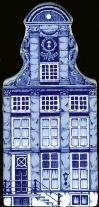 "Large Canal House #03 Klok Gevel 6"" tall"