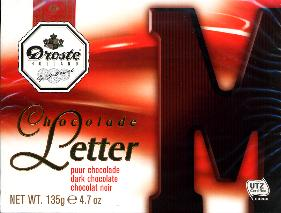 Droste Chocolate Letter Large Dark M