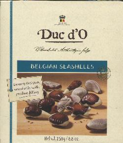 Duc d'O Belgian Seashells with Praline Filling -- 250g