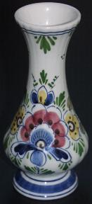 DeWit Delft Vase Poly with Flowers - 8cm x 18cm