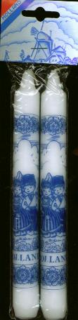 Candles Dinner Delft Dutch Boy and Girl Design