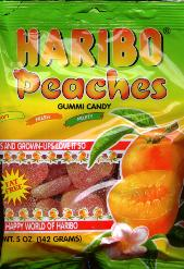 Haribo Gummi Peaches Candy 5 oz 142g