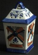 Delfts Lantern House Multi Color Windmill 5 inches 13cm