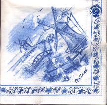 Paper Napkins -- Dutch Mills Blue