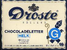 Droste Milk Chocolate Letter Large  G