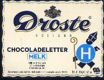 Droste Milk Chocolate Letter Large  H