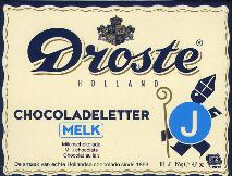 Droste Milk Chocolate Letter Large  J