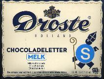 Droste Milk Chocolate Letter Large  S