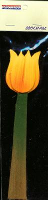 Book Mark Orange Tulip made out of wood 6 inch
