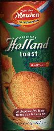 Van der Meulen Rusk Wholewheat Holland Toast 125g