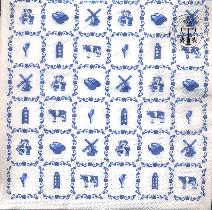 Paper Napkins - Blue Tile Decoration