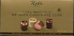 Noble Chocolates --Pure Selection  Belgium Chocolate Cups -- 100