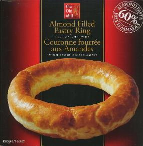 The Old Mill Banket Ring--Almond Filled Pastry Wreath 480g