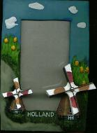 Picture Frame with Turning Windmills