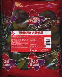 Red Band Winegum Assortie 1kg