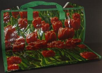 Shopping Bag -- Red Tulip Design